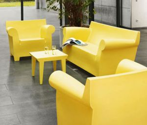 Kartell outdoor salotto bubble club for Sedie stark