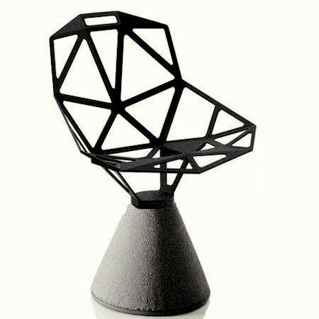 Magis   Chair One Revolving (Concrete Base)